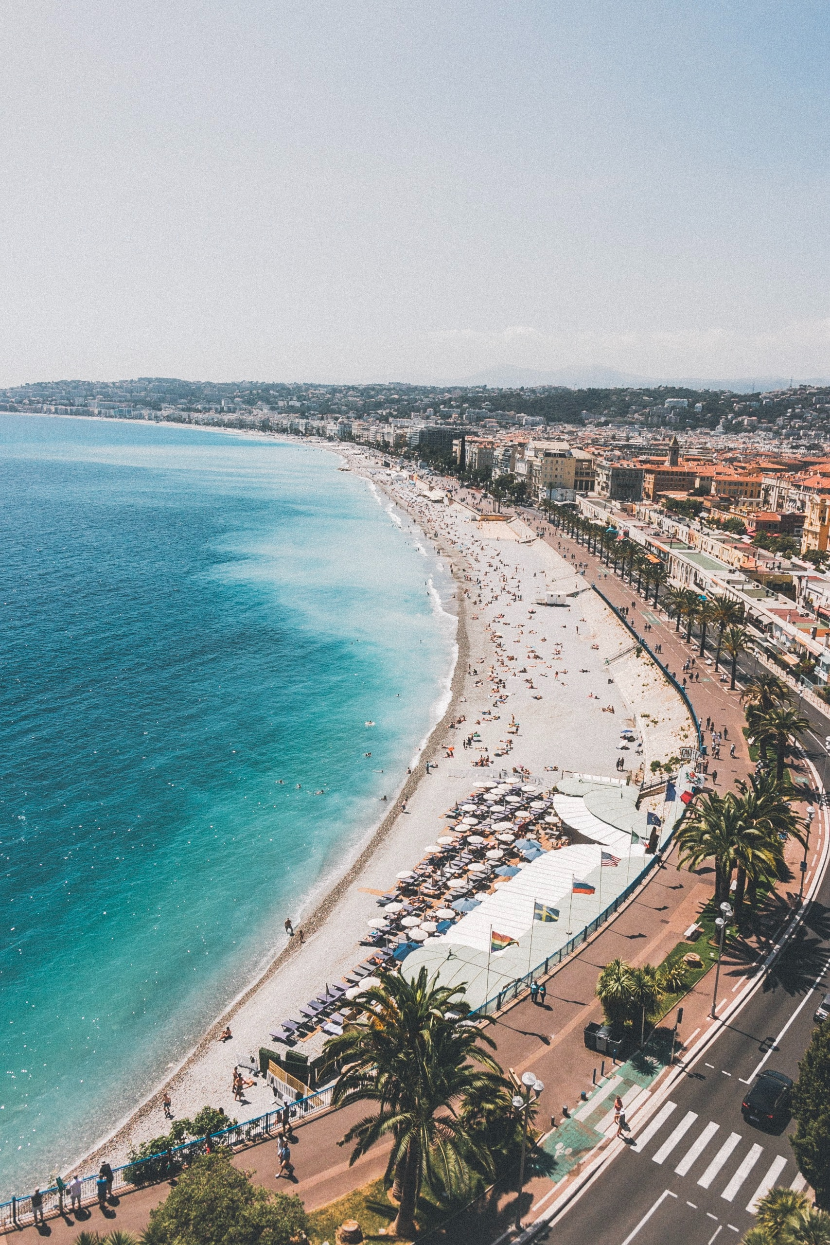 Coast in Nice, France